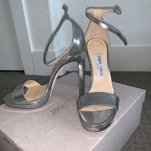 Jimmy Choo sliver heels in women's 37